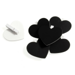 B1904 Board Clip: Heart Shape -  49 x 54mm - Choice of Colour